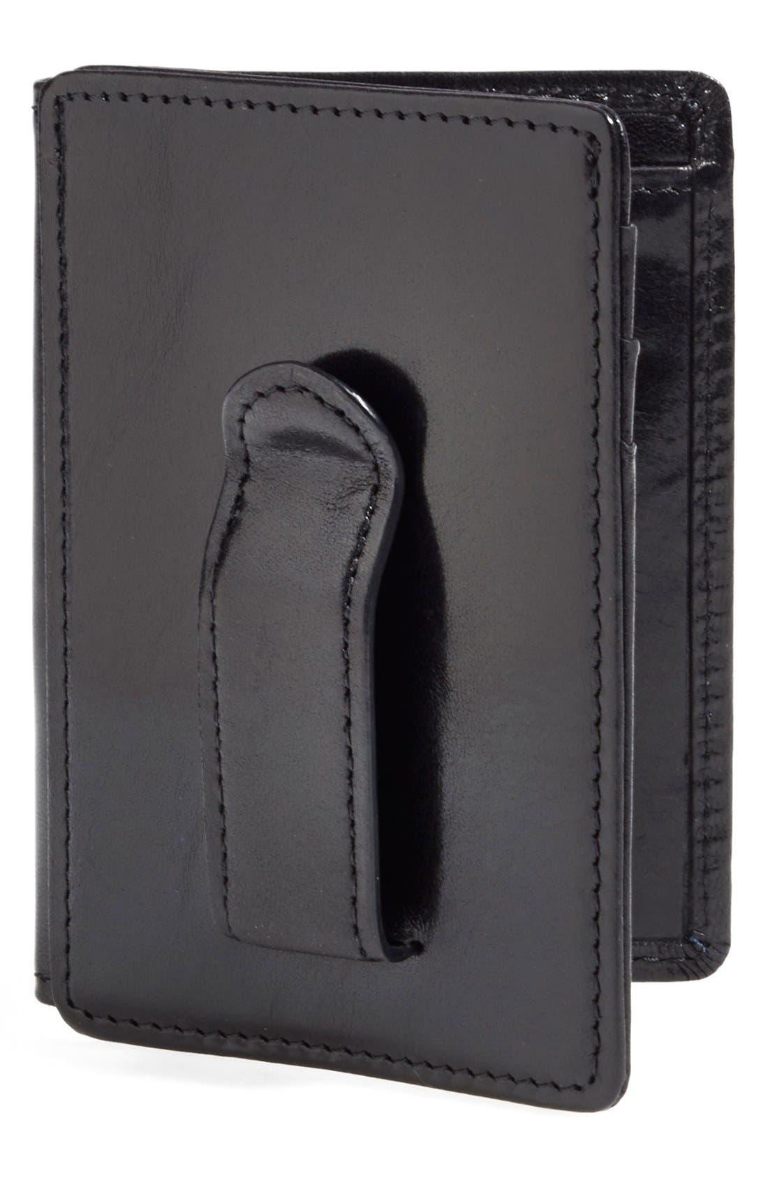 'Old Leather' Front Pocket ID Wallet,                         Main,                         color, Black