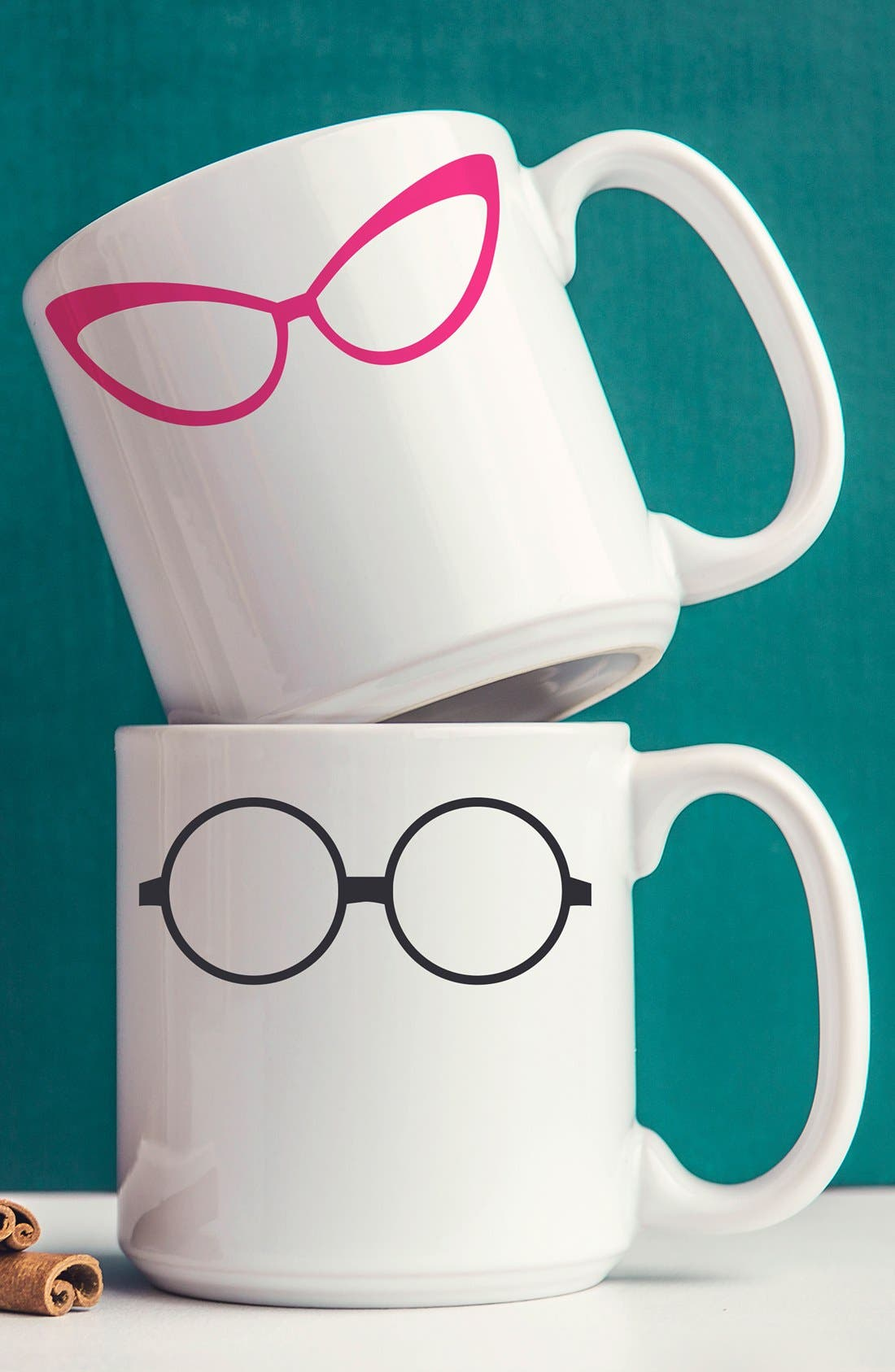 Alternate Image 1 Selected - Cathy's Concepts 'Geek Glasses' Ceramic Coffee Mugs (Set of 2)