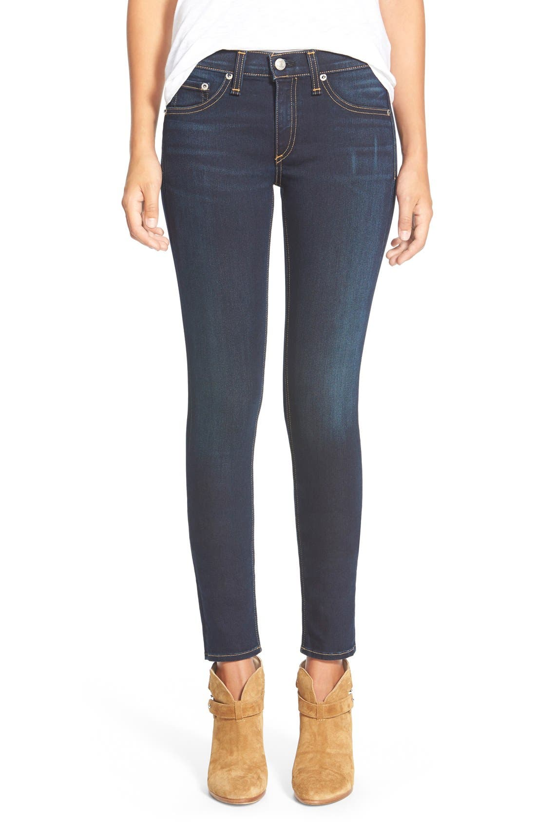 Skinny Stretch Jeans,                         Main,                         color, Bedford