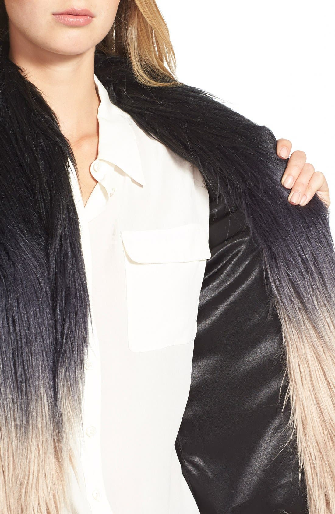 Alternate Image 4  - Buffalo by David Bitton Ombré Faux Fur Vest