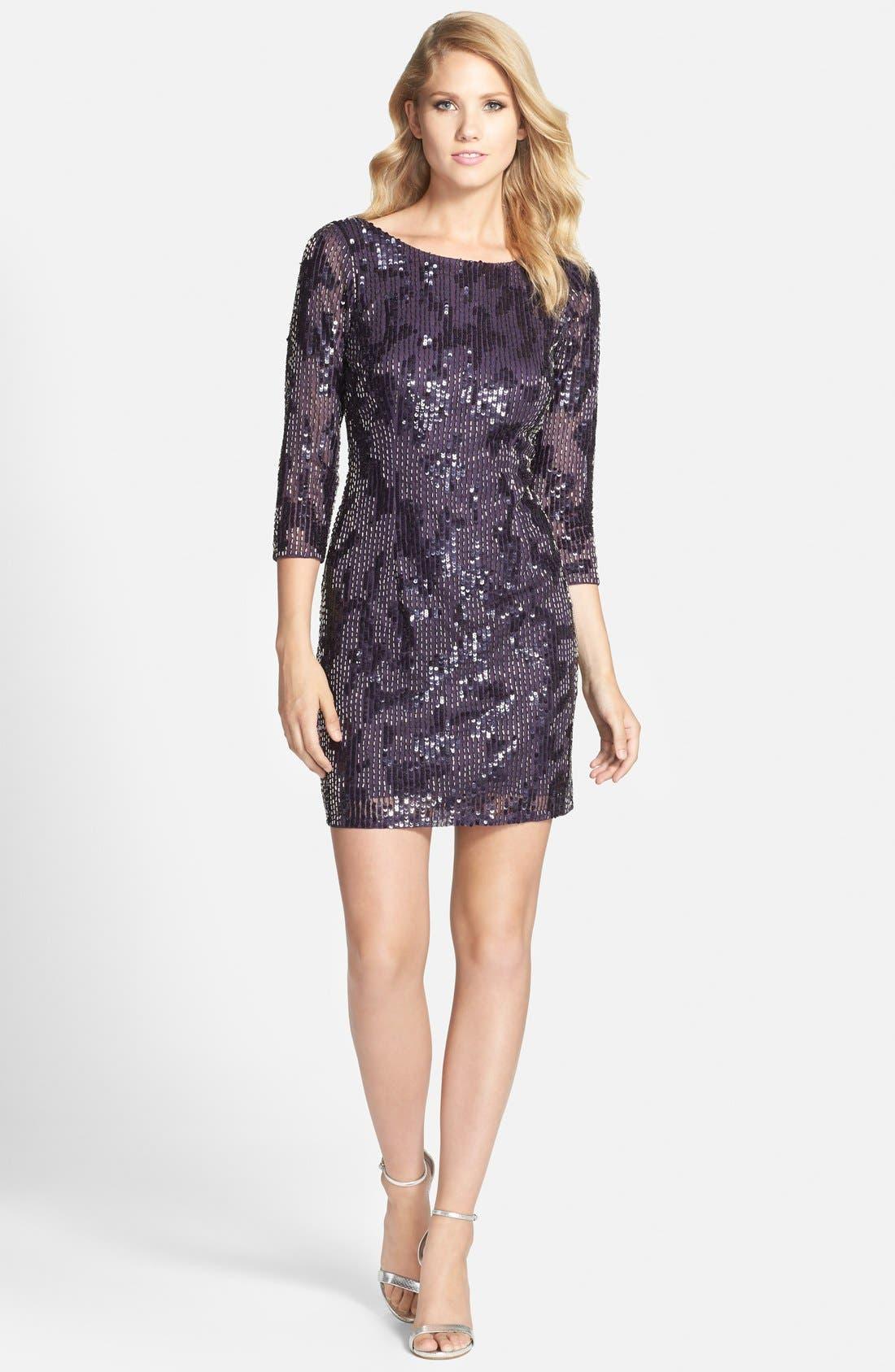 Alternate Image 3  - Adrianna Papell Embellished Sheath Dress (Regular & Petite)