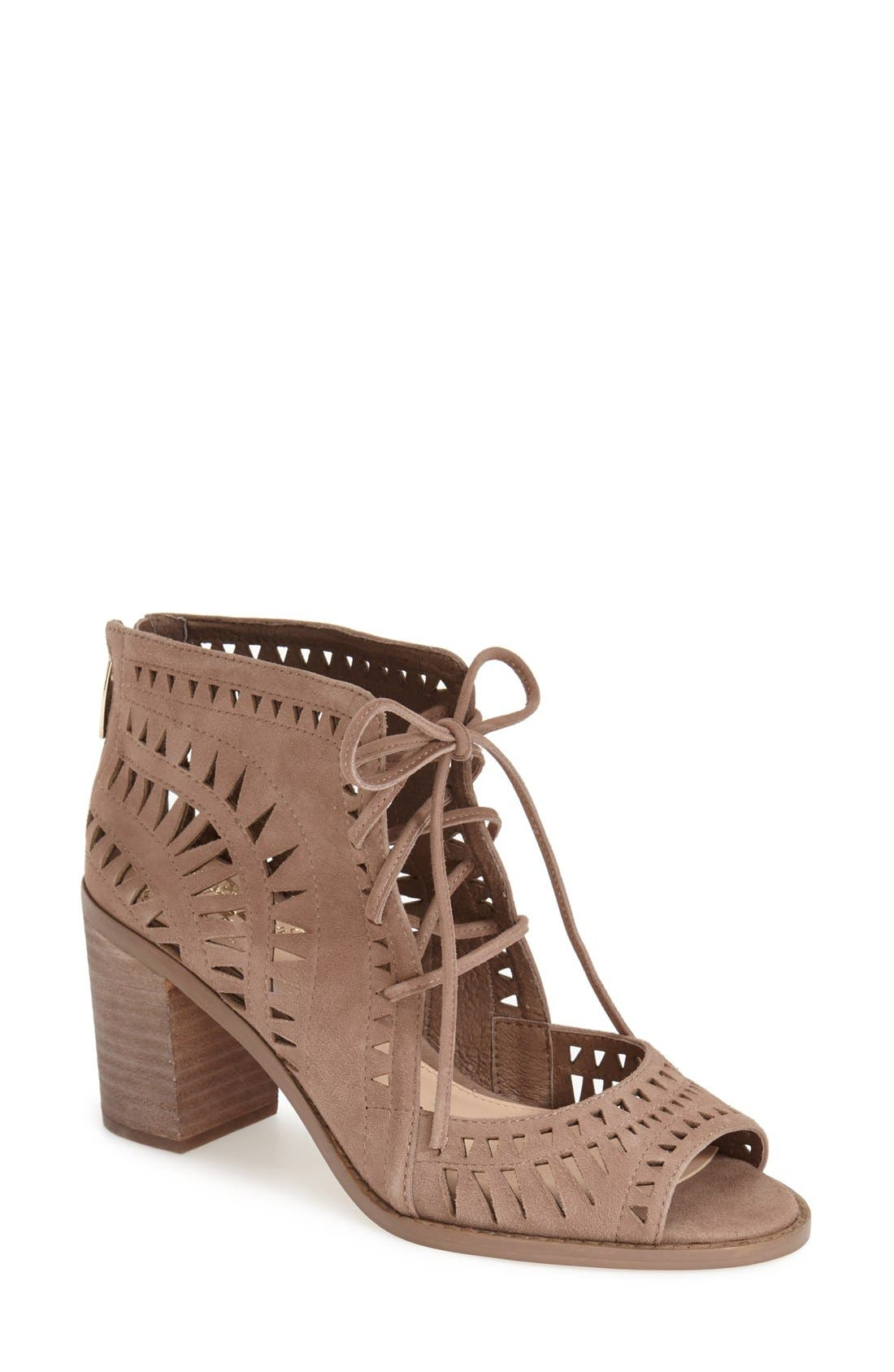 Alternate Image 1 Selected - Vince Camuto 'Tarita' Cutout Lace-Up Sandal (Women) (Nordstrom Exclusive)