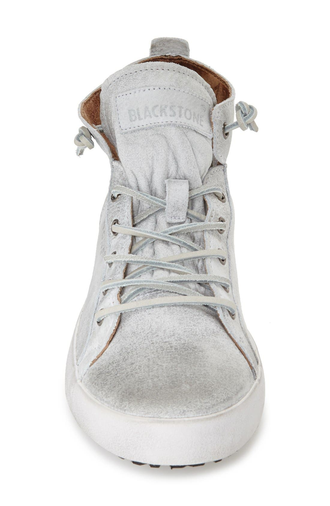 'JM 02' High Top Sneaker,                             Alternate thumbnail 3, color,                             White Leather