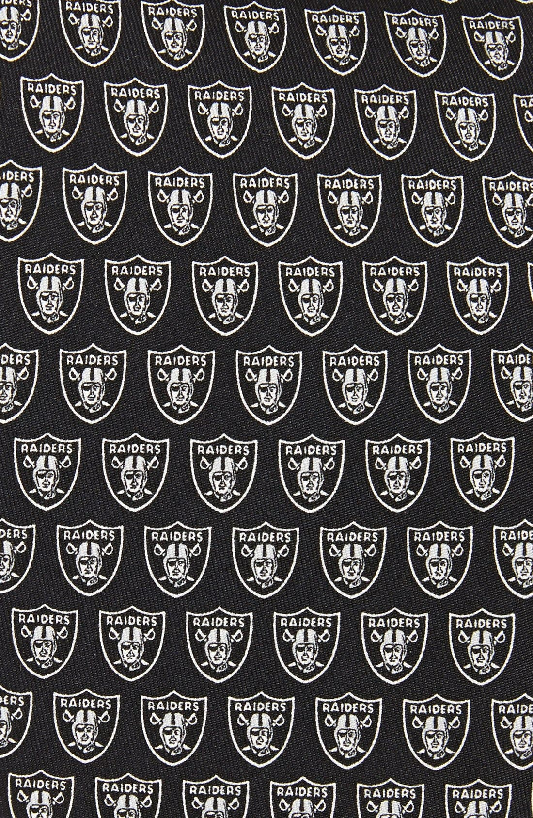 Oakland Raiders - NFL Woven Silk Tie,                             Alternate thumbnail 2, color,                             Black