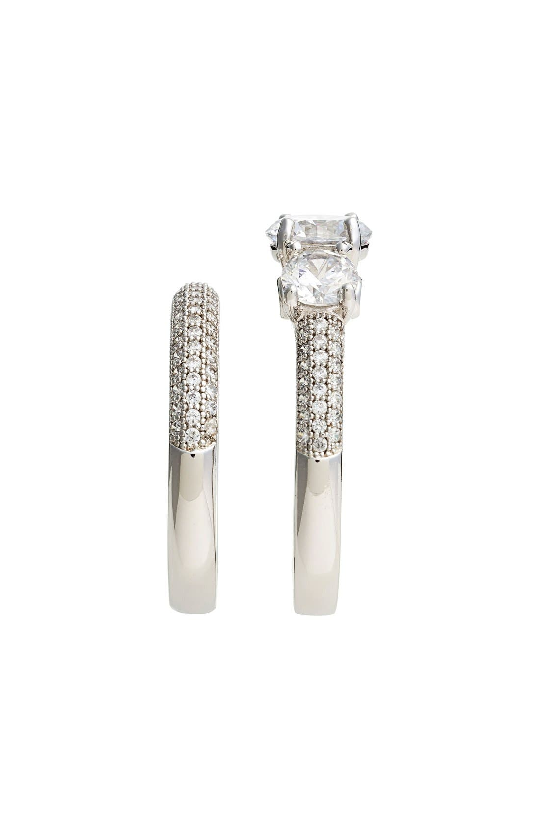 Alternate Image 2  - Lafonn 'Lassaire' Engagement Ring and Band (Set of 2)