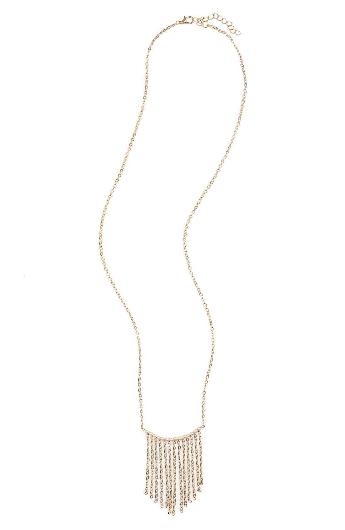 Main Image - BP. Beaded Tassel Necklace