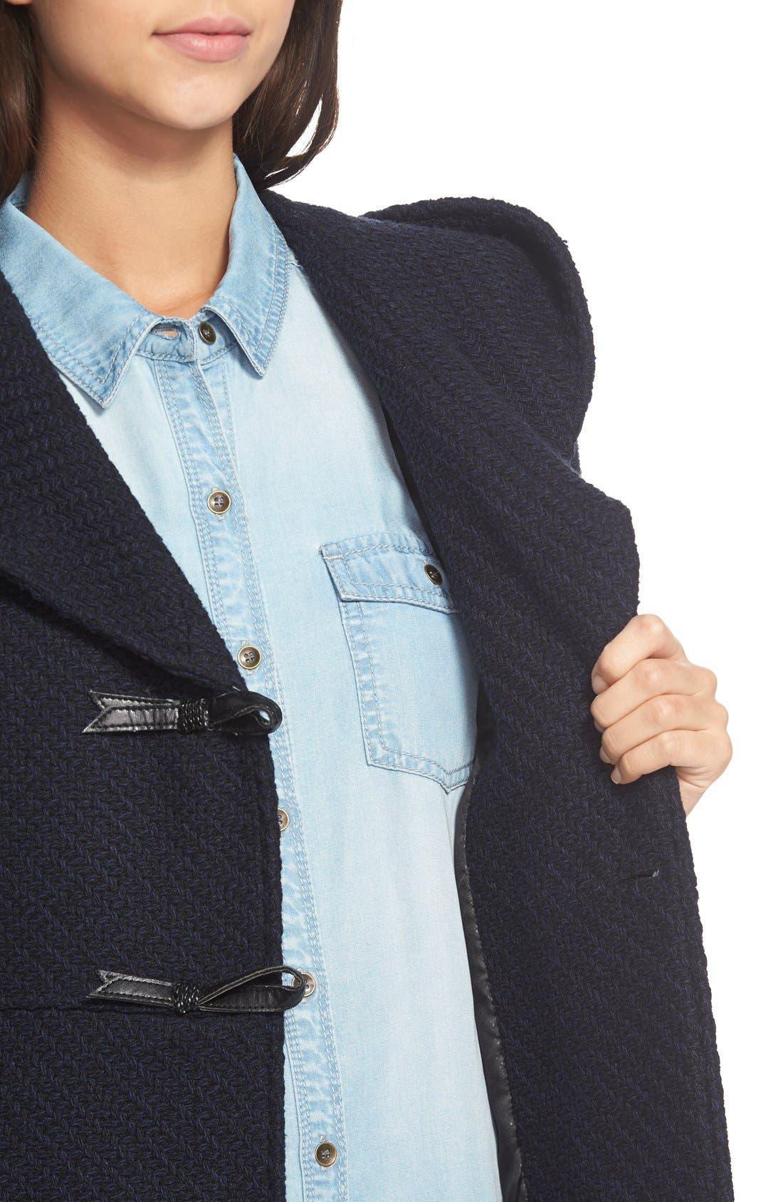 Alternate Image 3  - Jessica Simpson Hooded Basket Weave Duffle Coat
