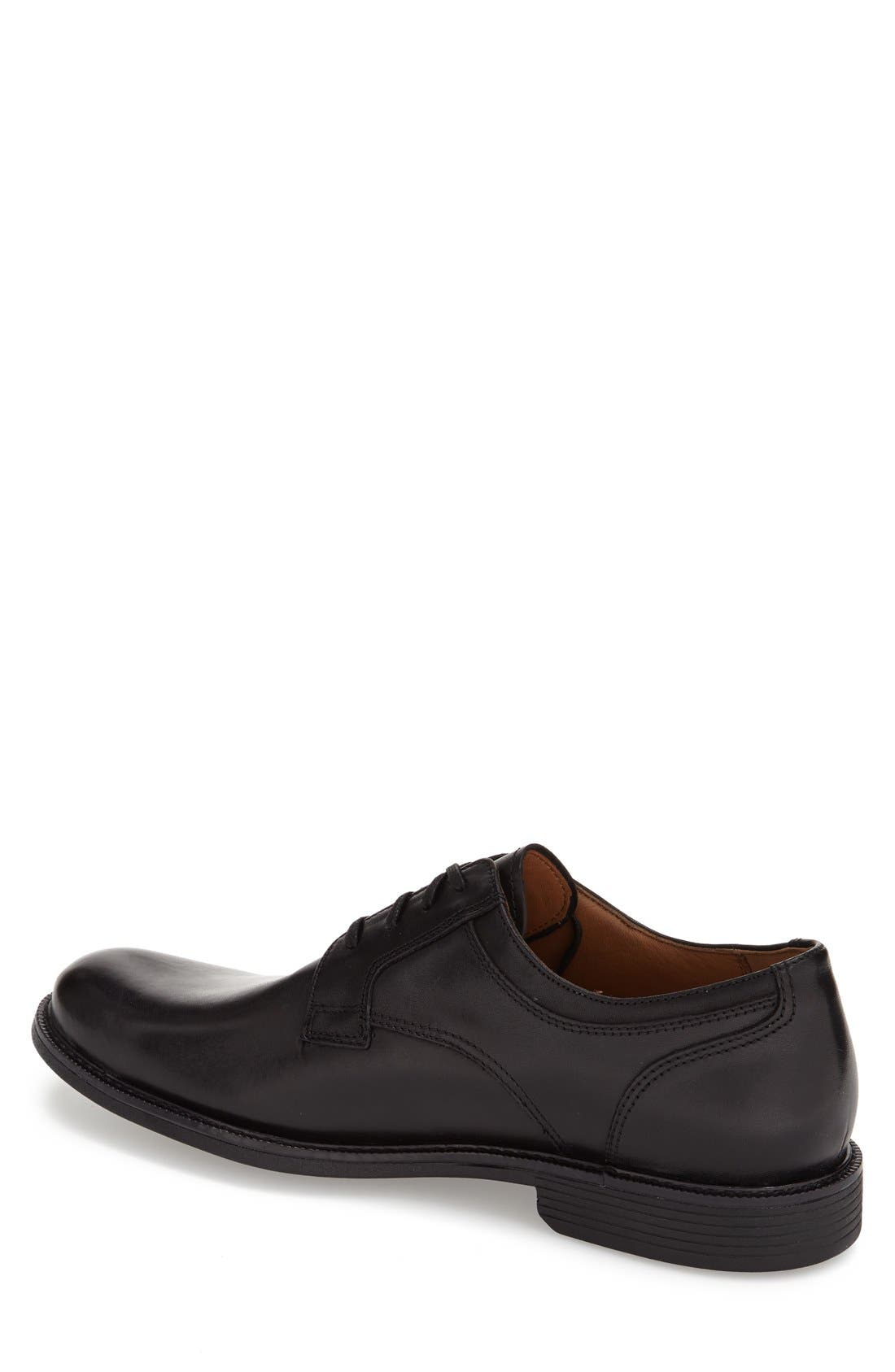 'Cardell' Plain Toe Derby,                             Alternate thumbnail 2, color,                             Black Leather