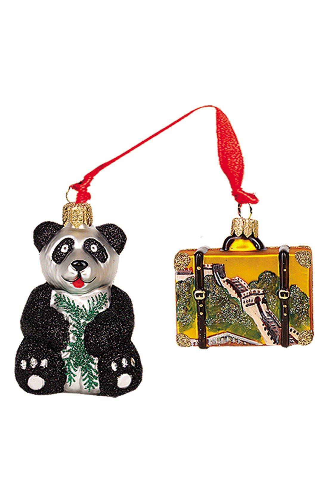 'Travel' Mini Ornament,                         Main,                         color, China With Panda