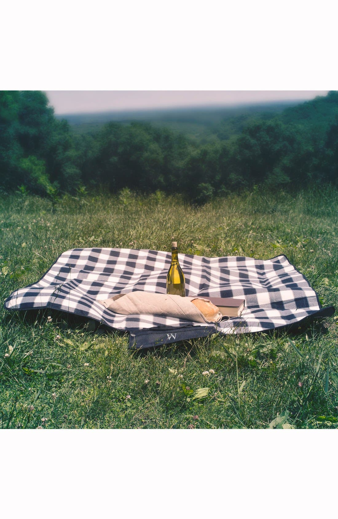 Alternate Image 6  - Cathy's Concepts Monogram Plaid Fold-Up Picnic Blanket