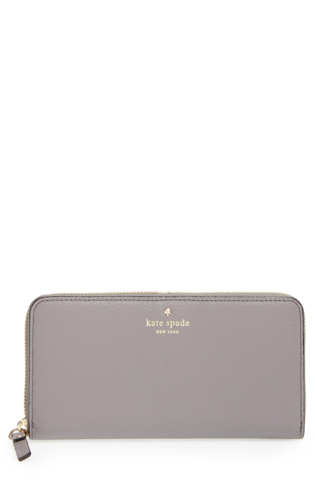 Main Image - kate spade new york 'cobble hill - lacey' zip around wallet