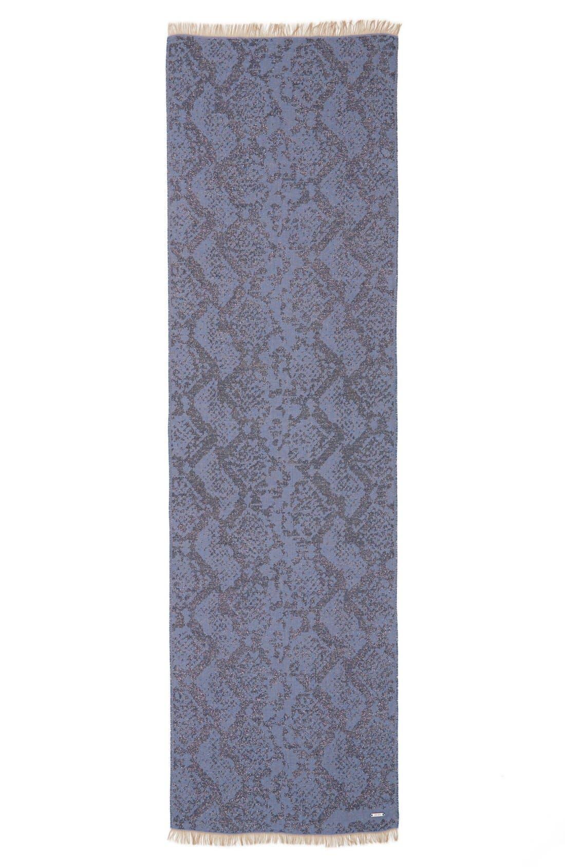 Alternate Image 2  - Jimmy Choo Metallic Pattern Woven Scarf