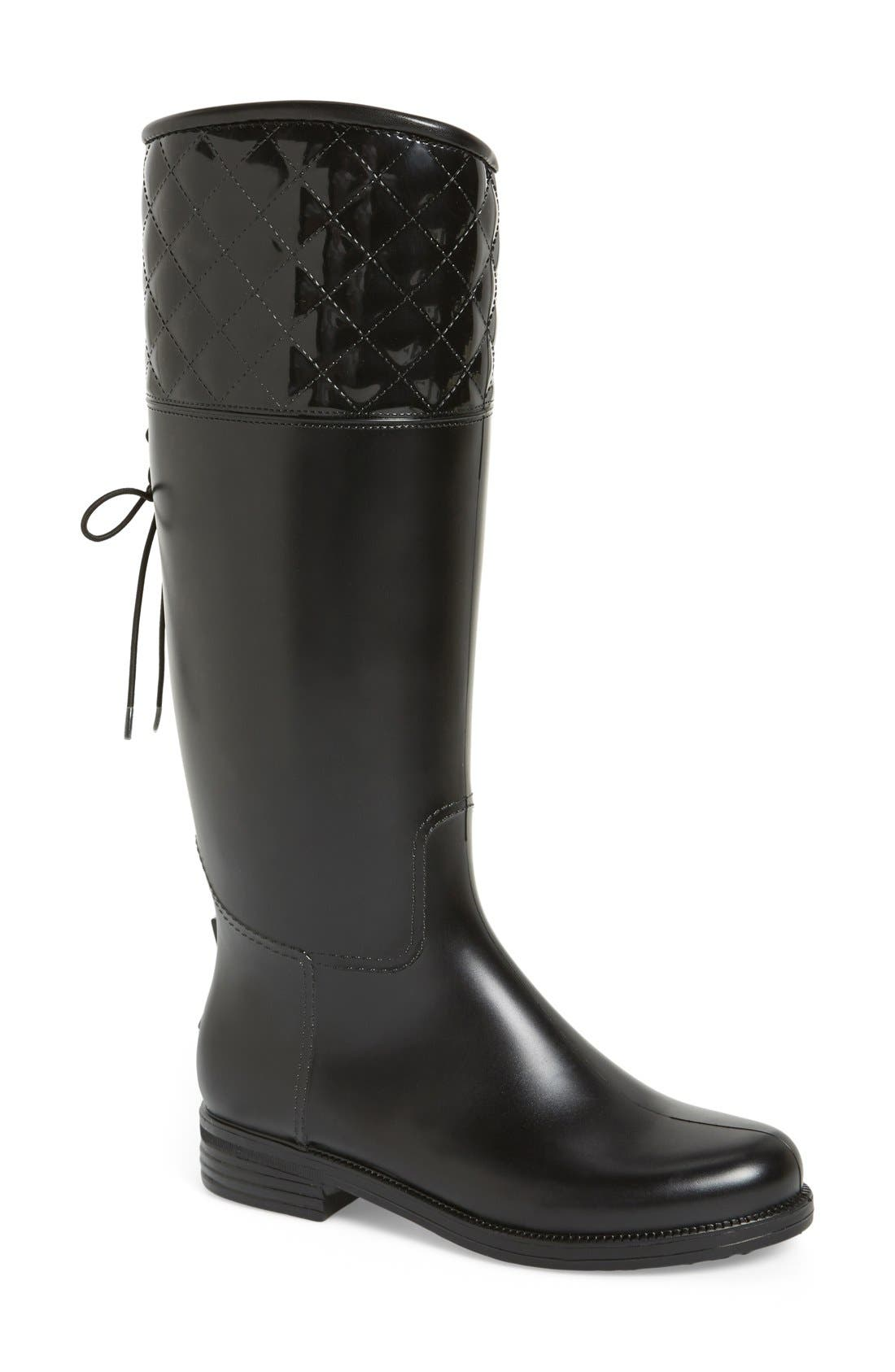 Main Image - däv 'Victoria' Waterproof Tall Rain Boot (Women)