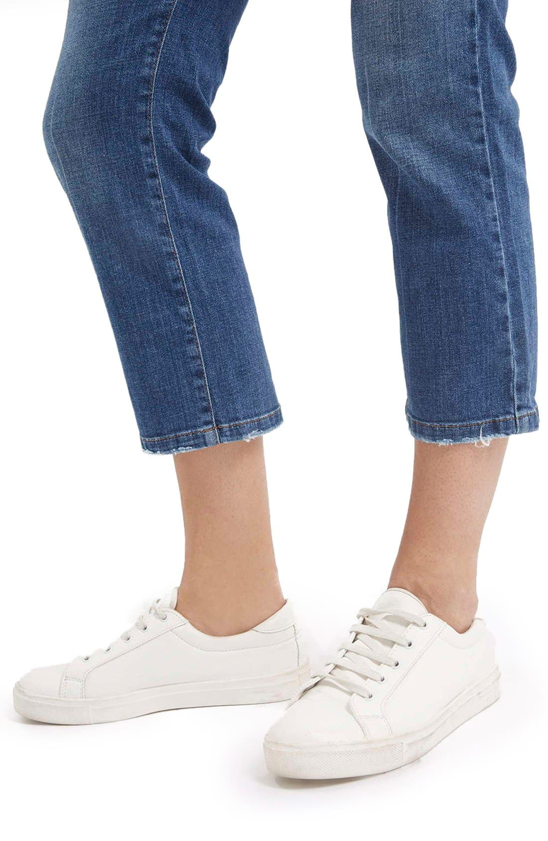 Alternate Image 4  - TopshopFlared Crop Jeans (Mid Denim) (Petite)