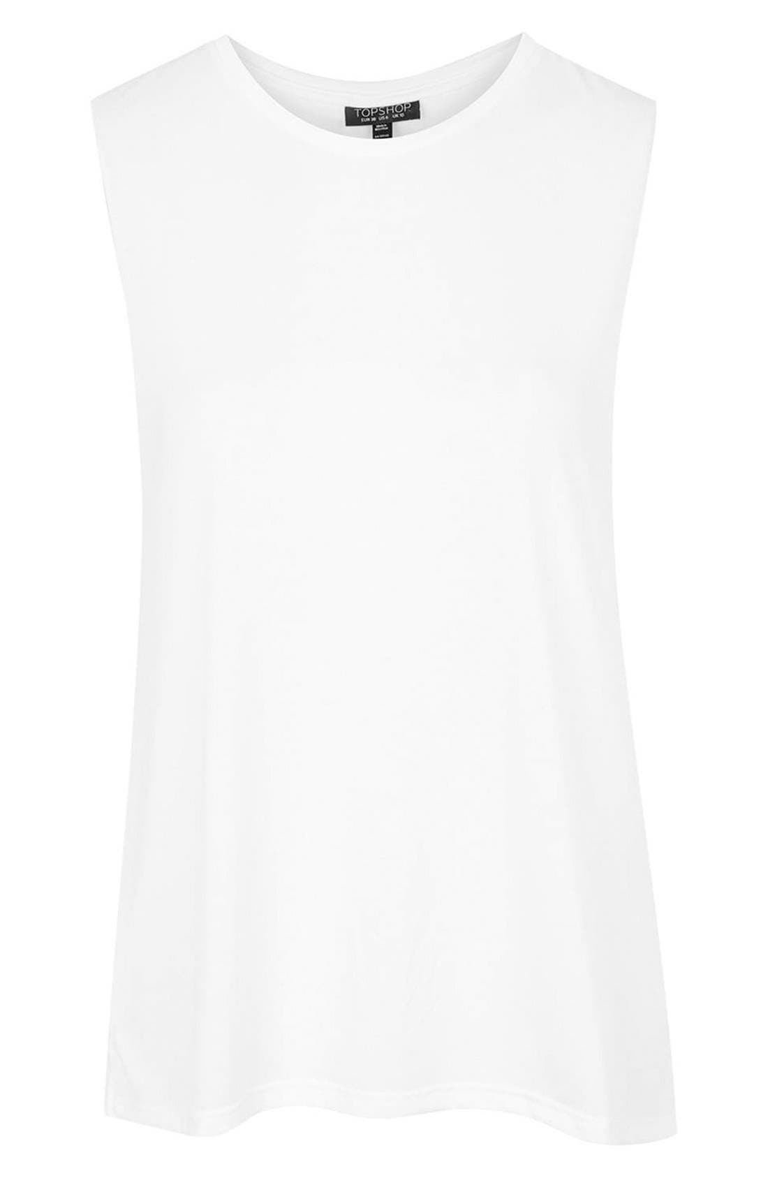 Alternate Image 4  - Topshop Slouchy Muscle Tank