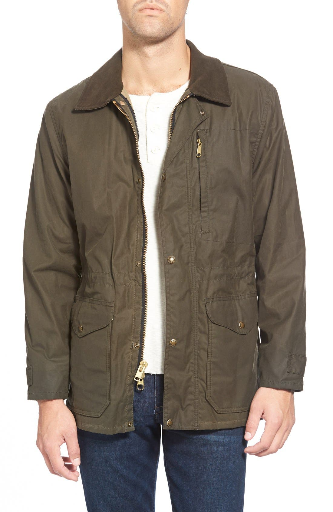 Filson 'Cover Cloth Mile Marker' Waxed Cotton Coat (Nordstrom Exclusive)