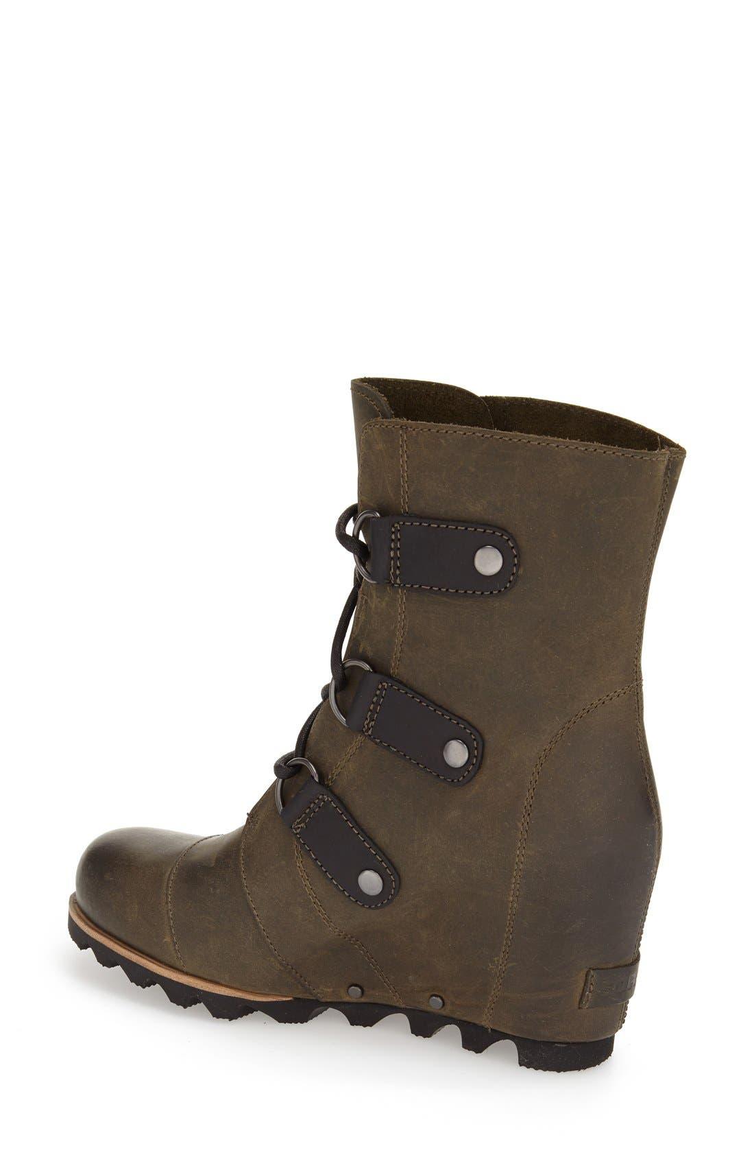 'Joan of Arctic' Waterproof Wedge Boot,                             Alternate thumbnail 2, color,                             Nori Green Leather