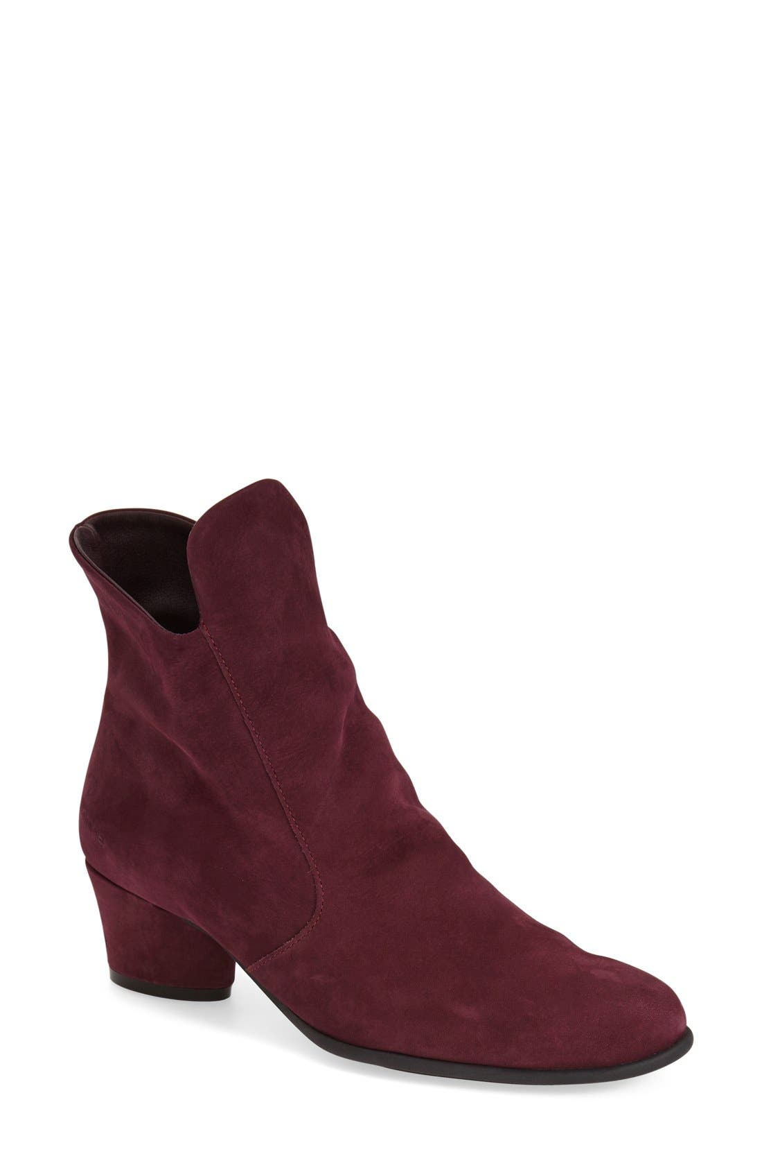 'Musaca' Boot,                             Main thumbnail 1, color,                             Berry Nubuck Leather