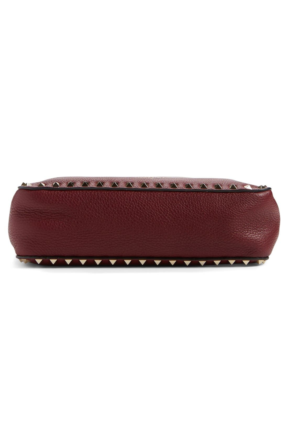 Alternate Image 5  - Valentino 'Small Rockstud' Leather Hobo Bag