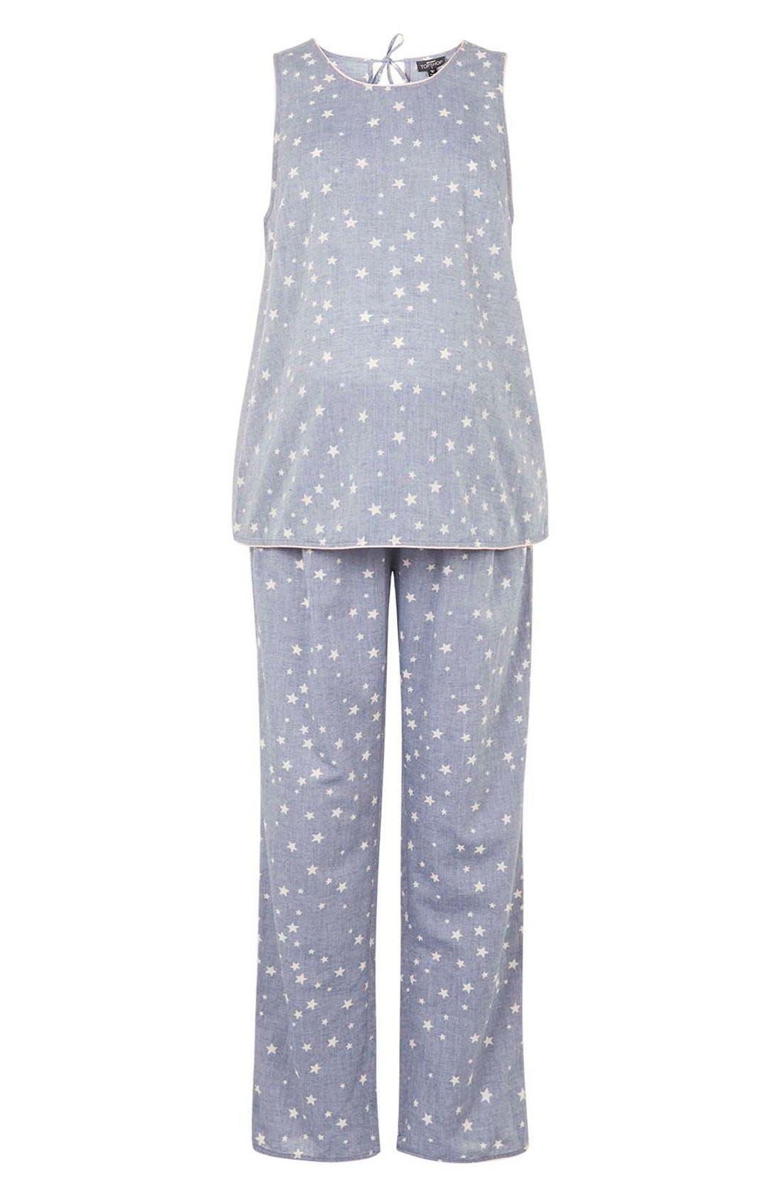 Main Image - Topshop'Mischa' Star Print MaternityPajamas