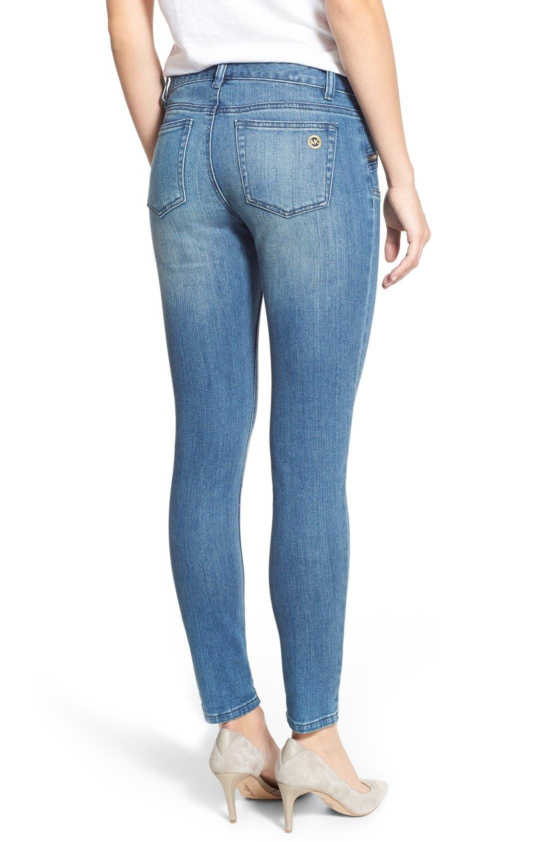 Alternate Image 2  - MICHAEL Michael KorsStretch Zip Pocket Ankle Skinny Jeans(Veruschka)