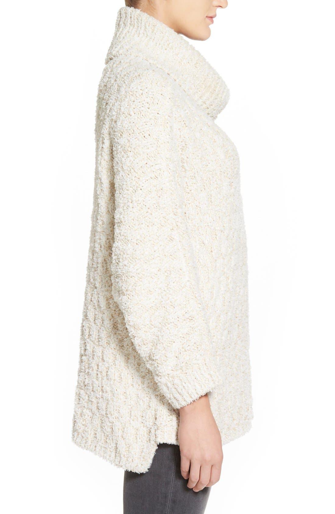 Alternate Image 3  - Chelsea28 Fluffy Turtleneck Sweater