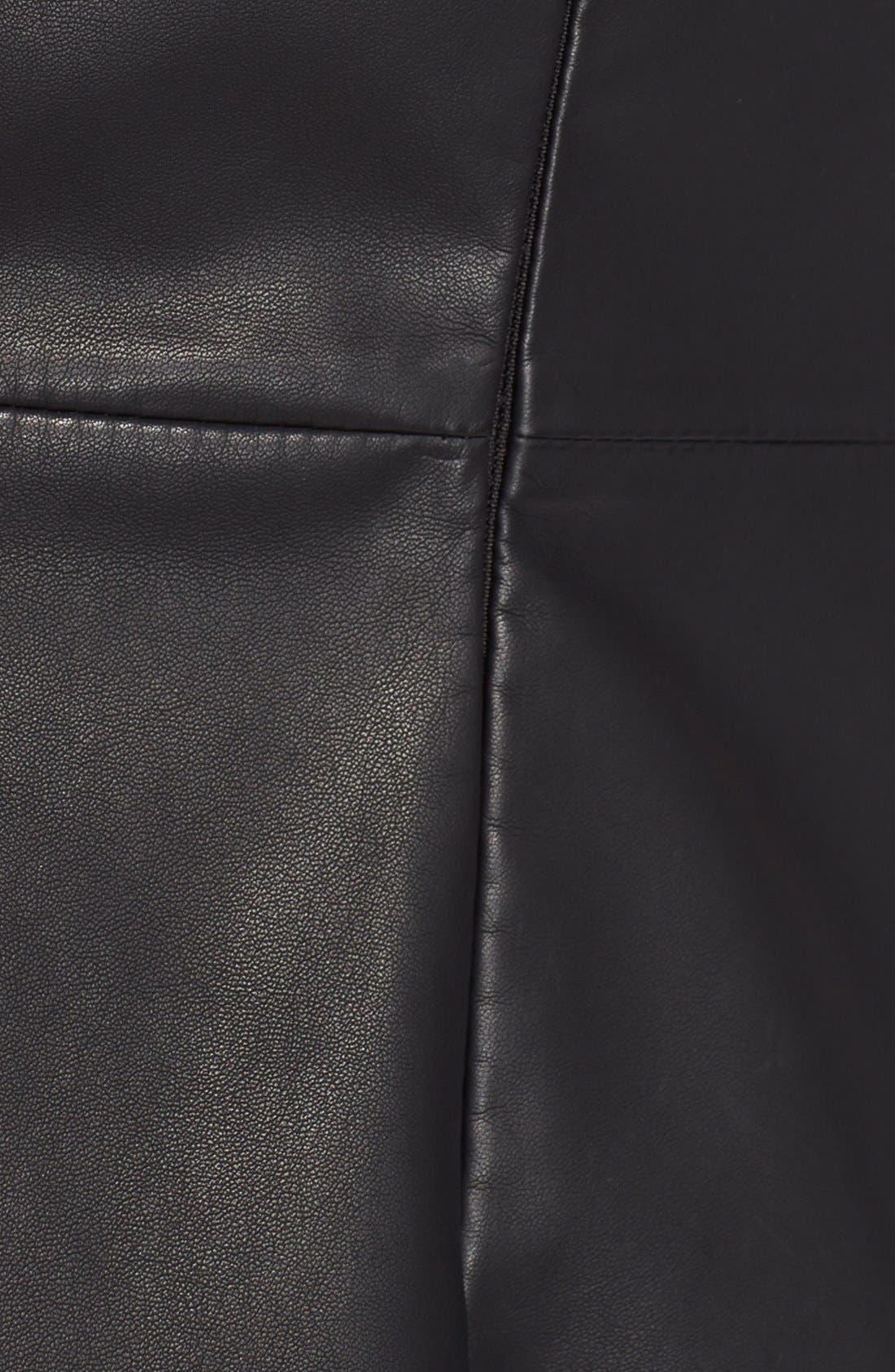 Alternate Image 5  - BB Dakota FauxLeather Fit & Flare Dress