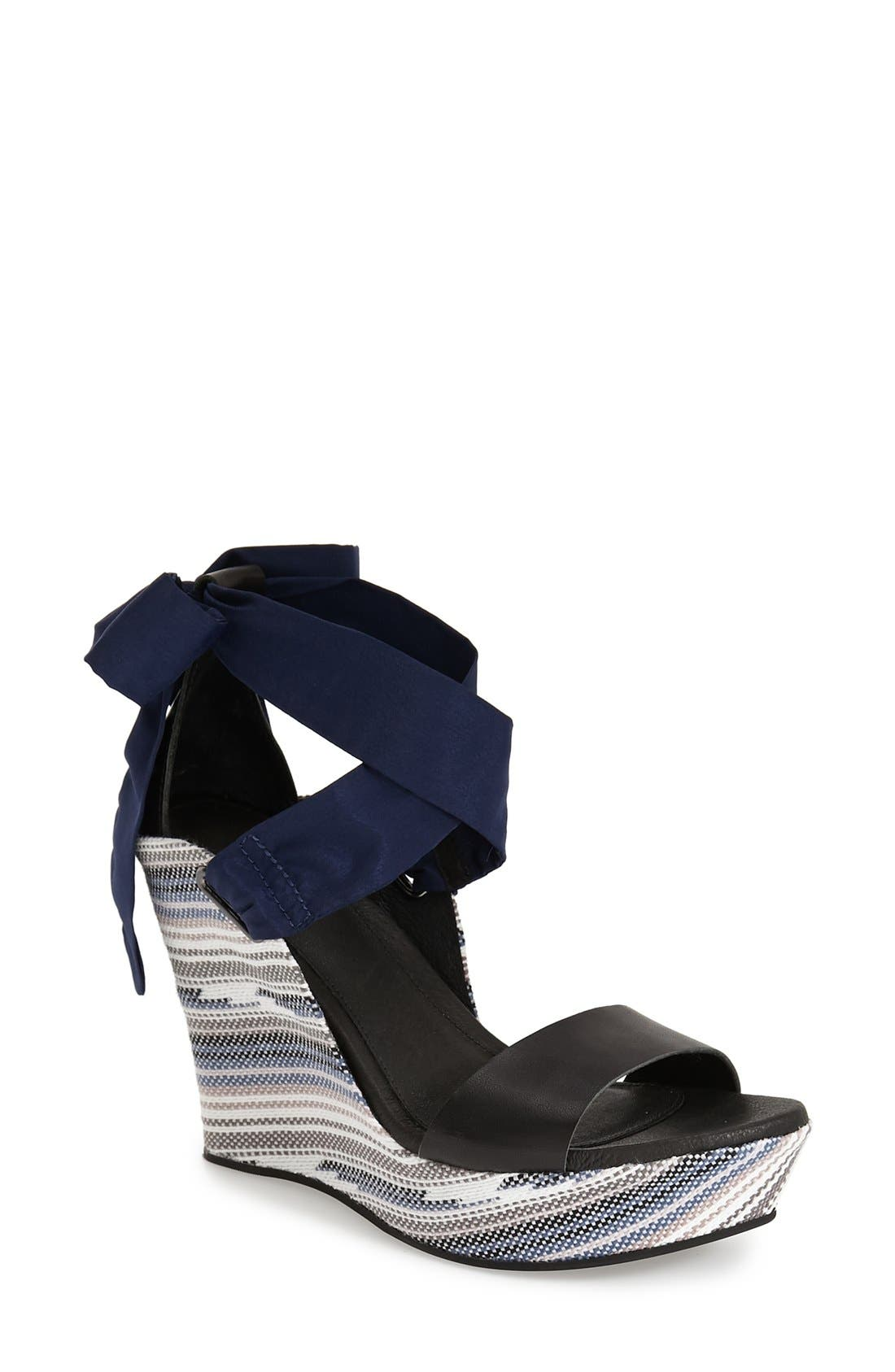 Alternate Image 1 Selected - UGG® 'Jules Serape' Platform Wedge Sandal (Women)