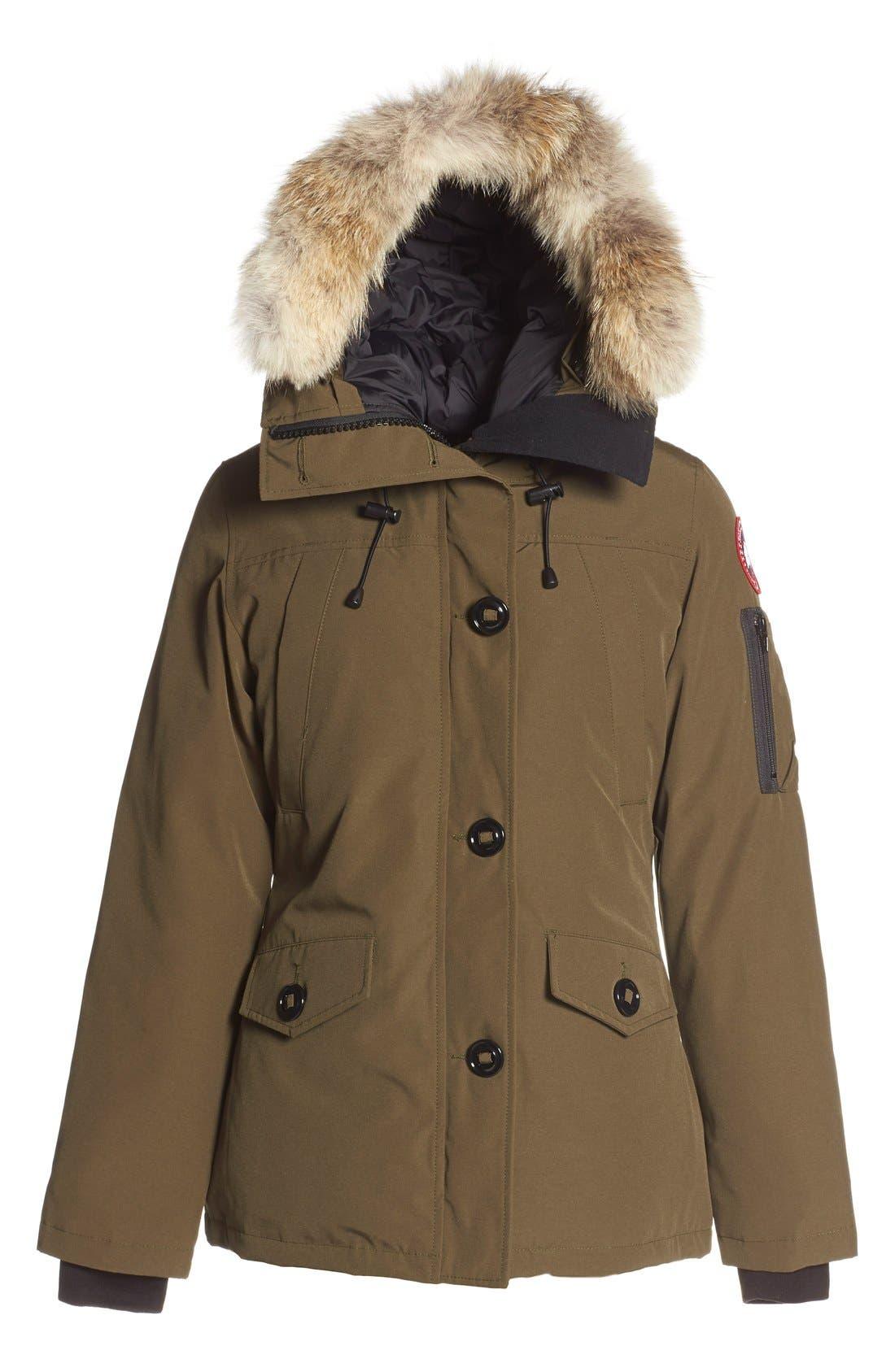 Alternate Image 4  - Canada Goose 'Montebello' Down Parka with Interchangeable Genuine Coyote Fur Trim (Women)