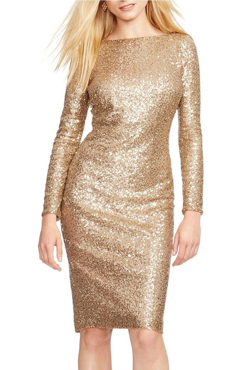 Lauren Ralph Lauren Sequin Sheath Dress (Regular & Petite) | Nordstrom