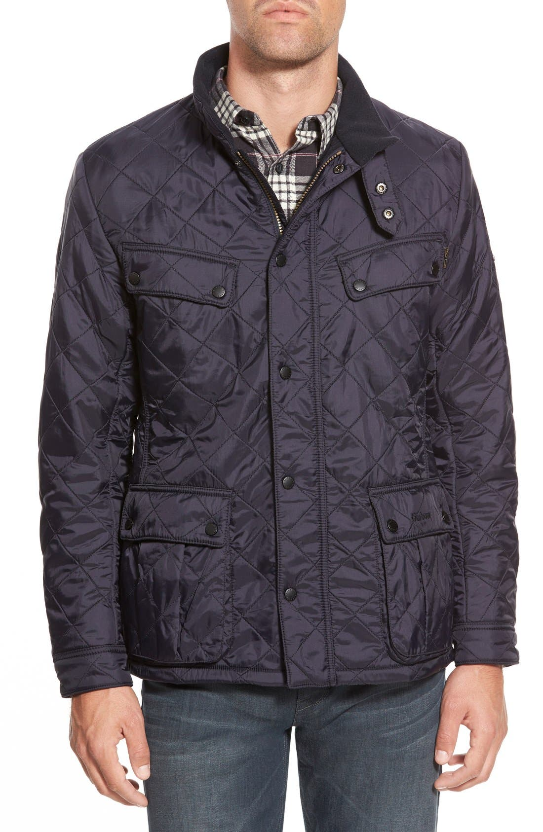 'Ariel' Regular Fit Polarquilt Coat,                         Main,                         color, Navy