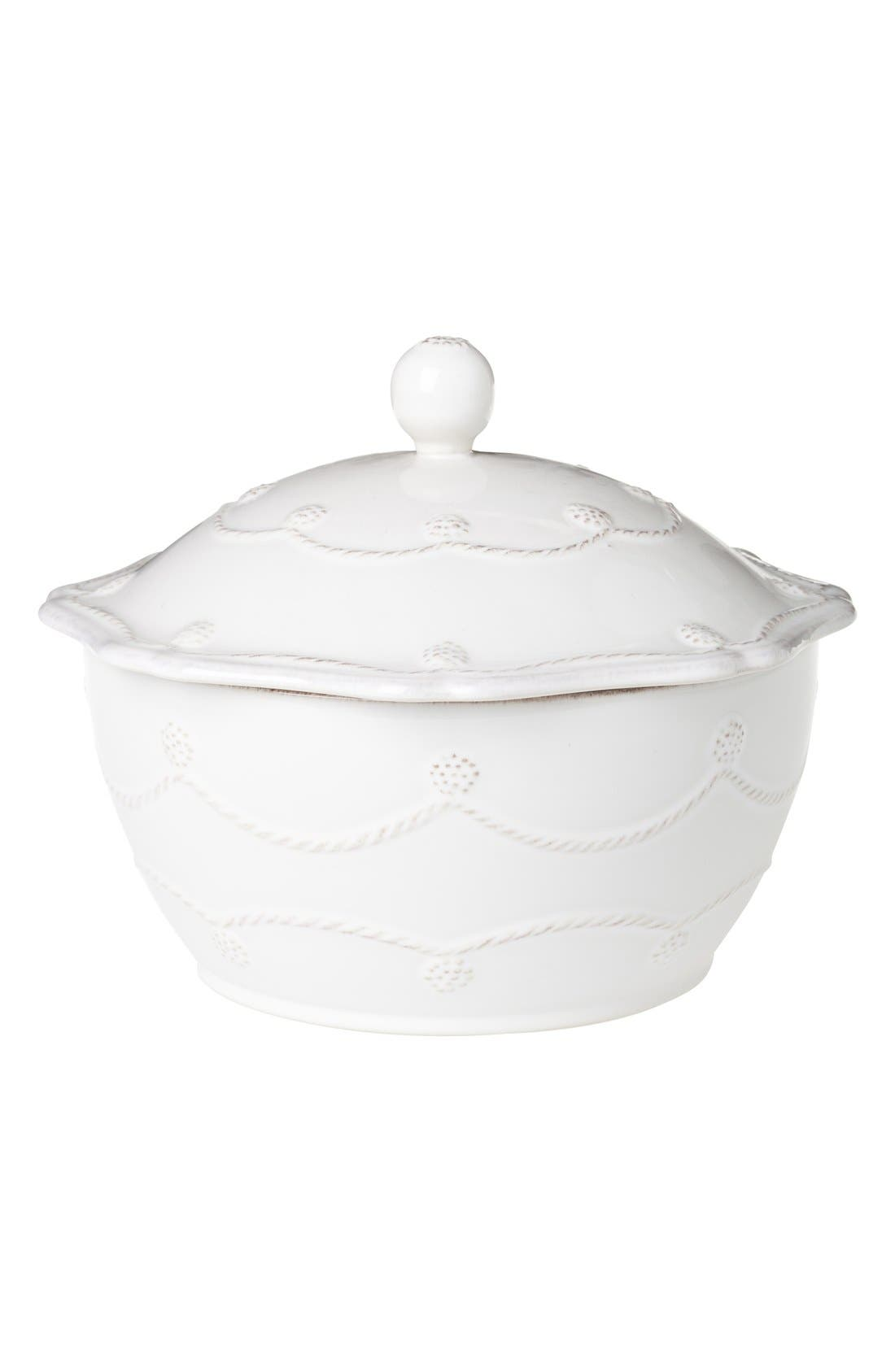 'Berry and Thread' Casserole Dish with Lid,                             Main thumbnail 1, color,                             Whitewash