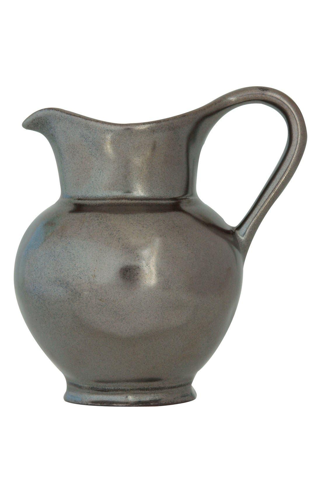 Pewter Stoneware Creamer,                         Main,                         color, Pewter