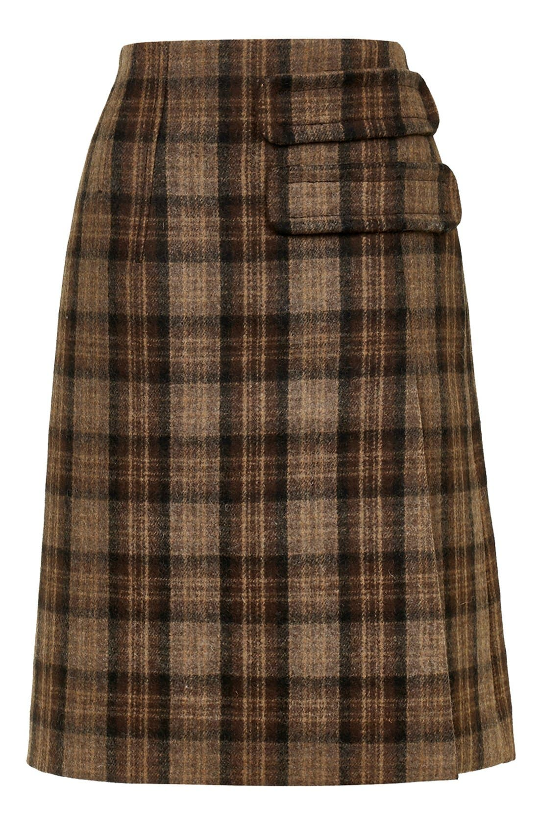 Alternate Image 5  - Topshop Unique 'Inverness' Plaid A-Line Skirt