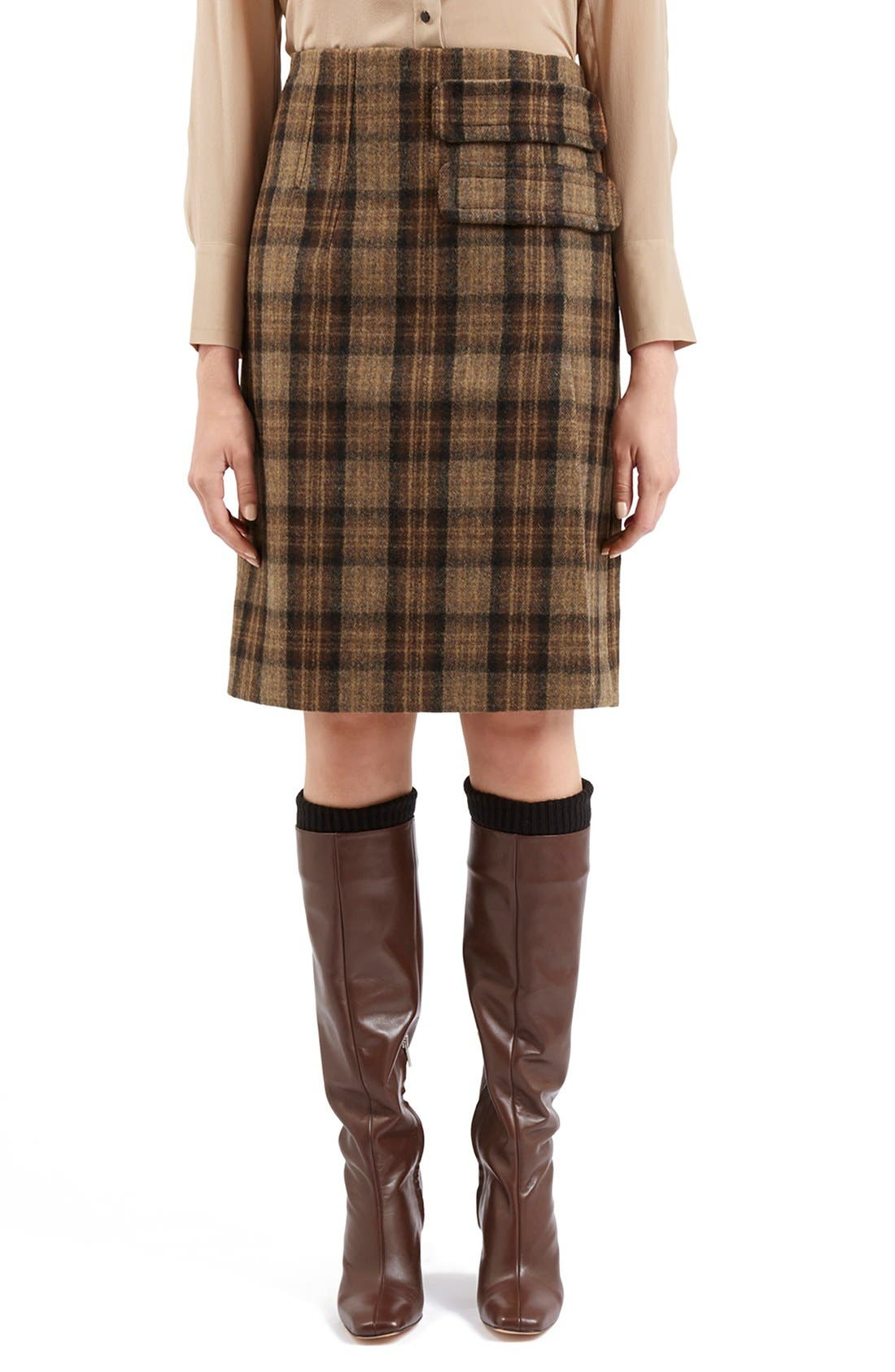 Alternate Image 3  - Topshop Unique 'Inverness' Plaid A-Line Skirt
