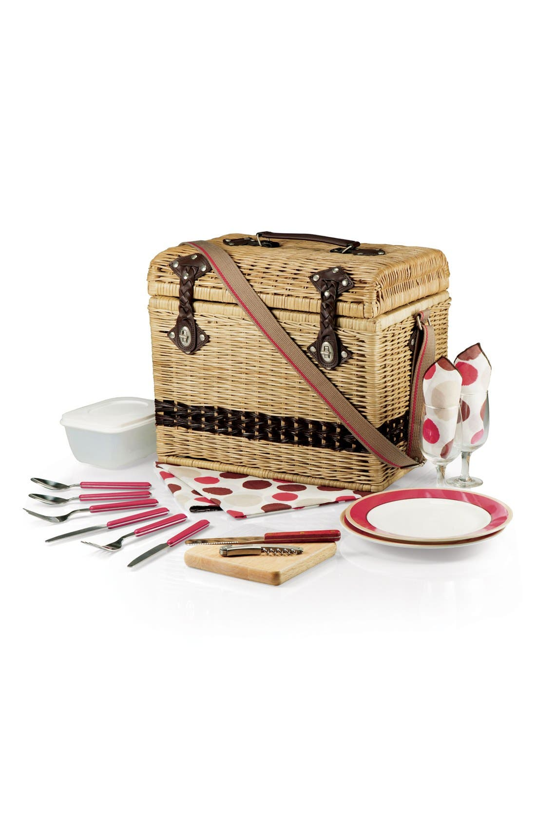Alternate Image 3  - Picnic Time 'Yellowstone' Wicker Picnic Basket