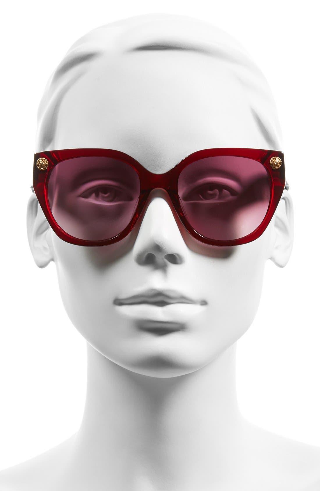 FreidaRothman'MargauxElegant' 54mmRetro Sunglasses,                             Alternate thumbnail 2, color,                             Wine