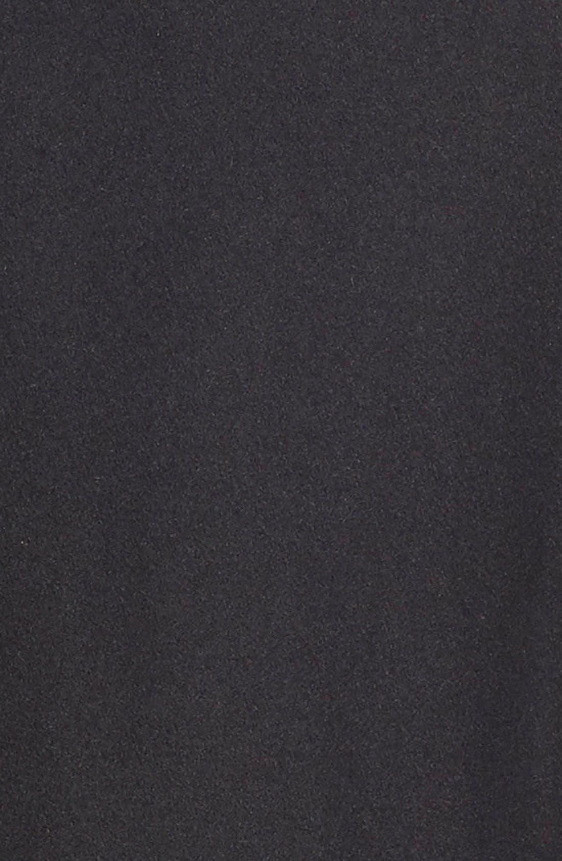 Melton Coat,                             Alternate thumbnail 5, color,                             Black