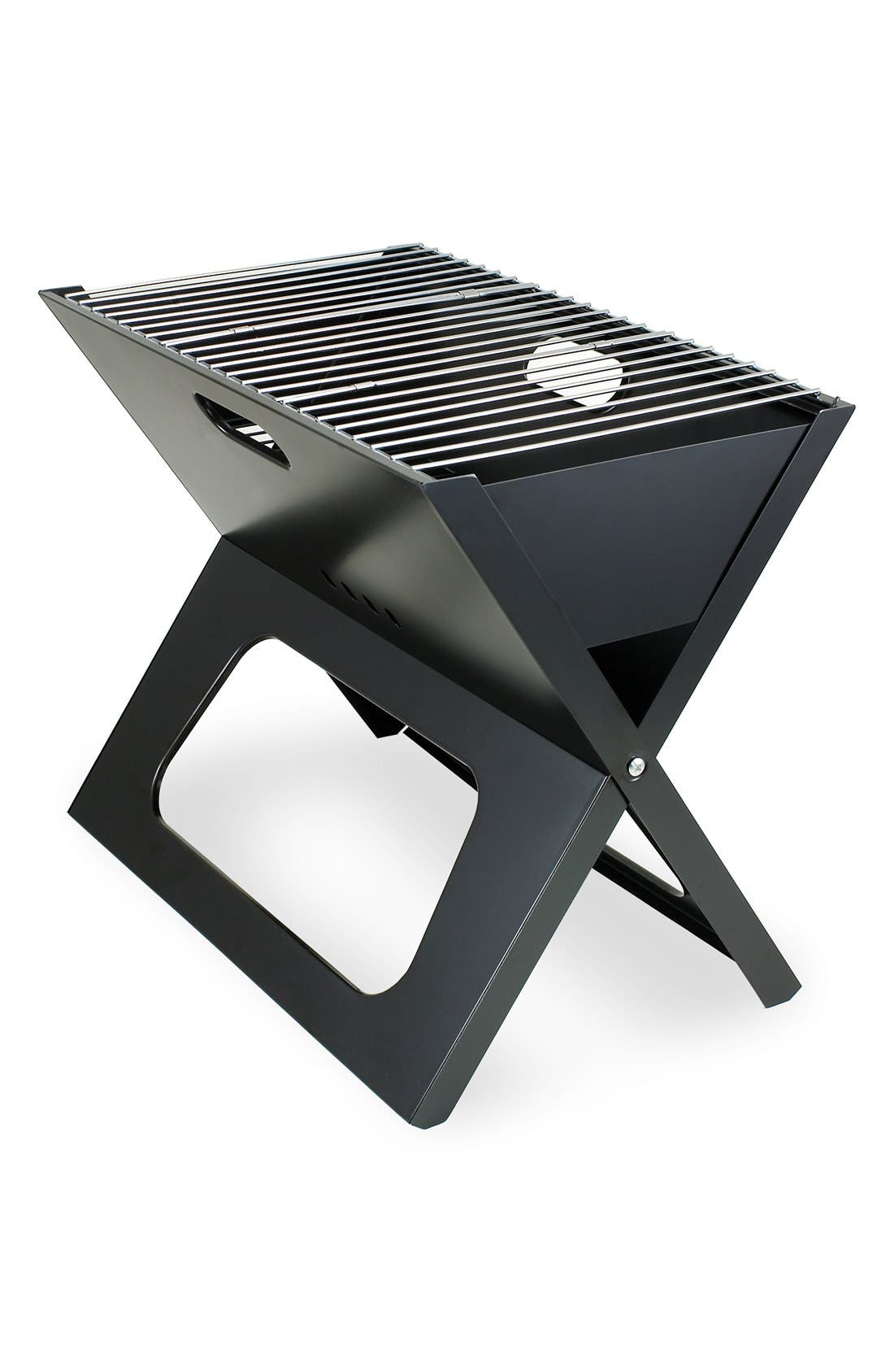 'X-Grill' Portable Fold-Up BBQ Grill,                         Main,                         color, Black