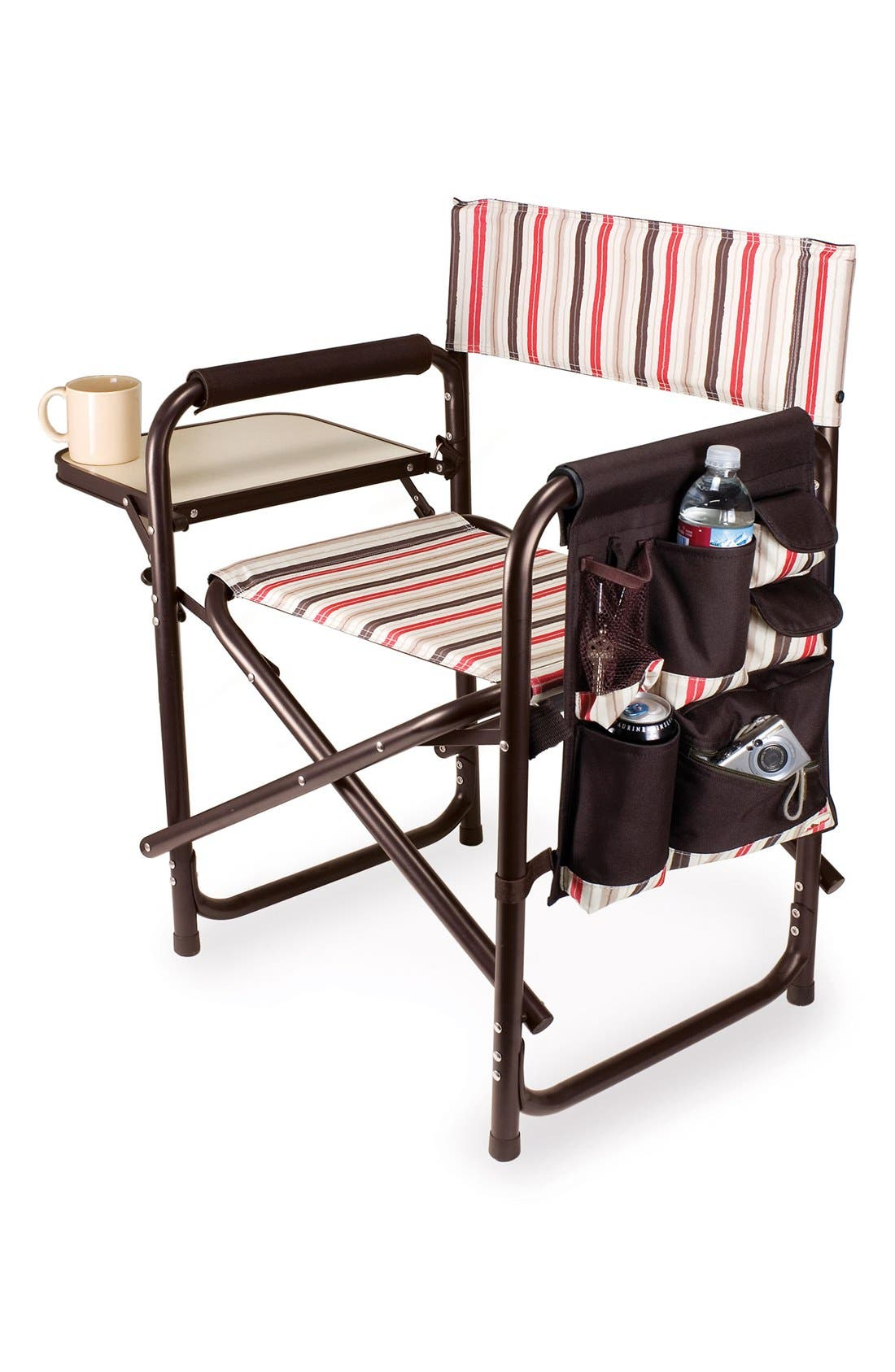 'Sports' Folding Chair,                             Main thumbnail 1, color,                             Brown
