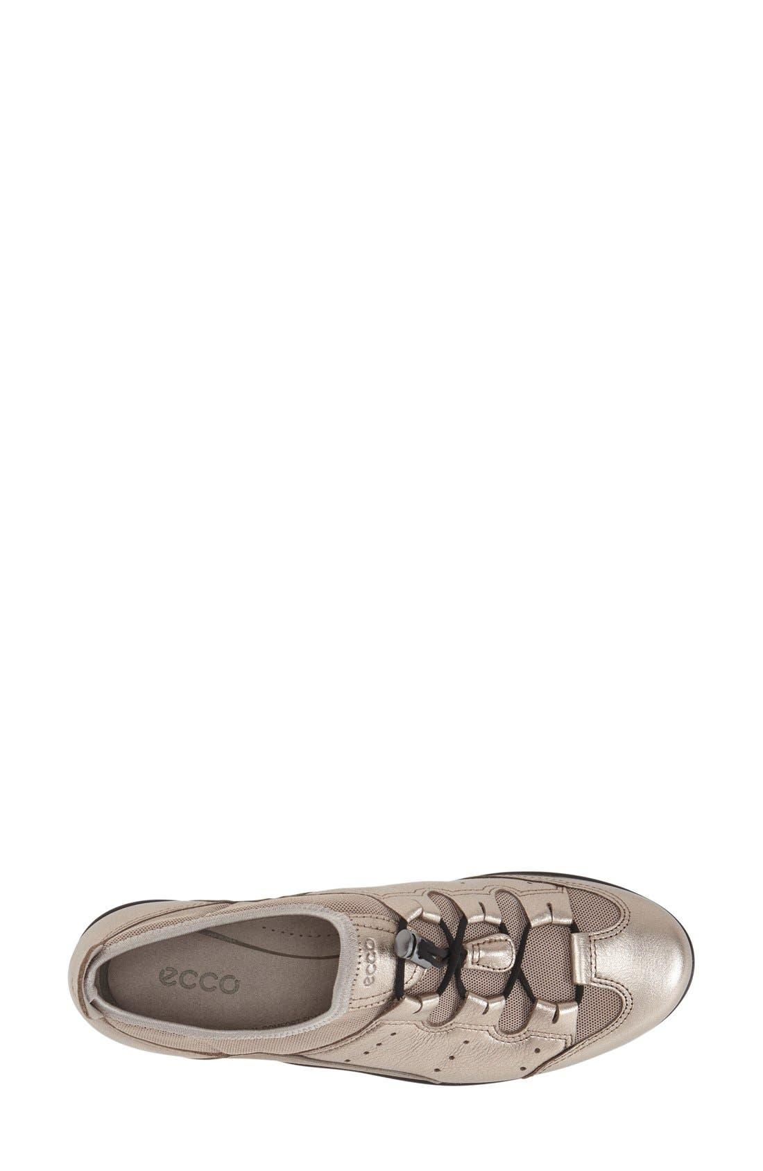 'Bluma' Sneaker,                             Alternate thumbnail 3, color,                             Grey Leather Fabric