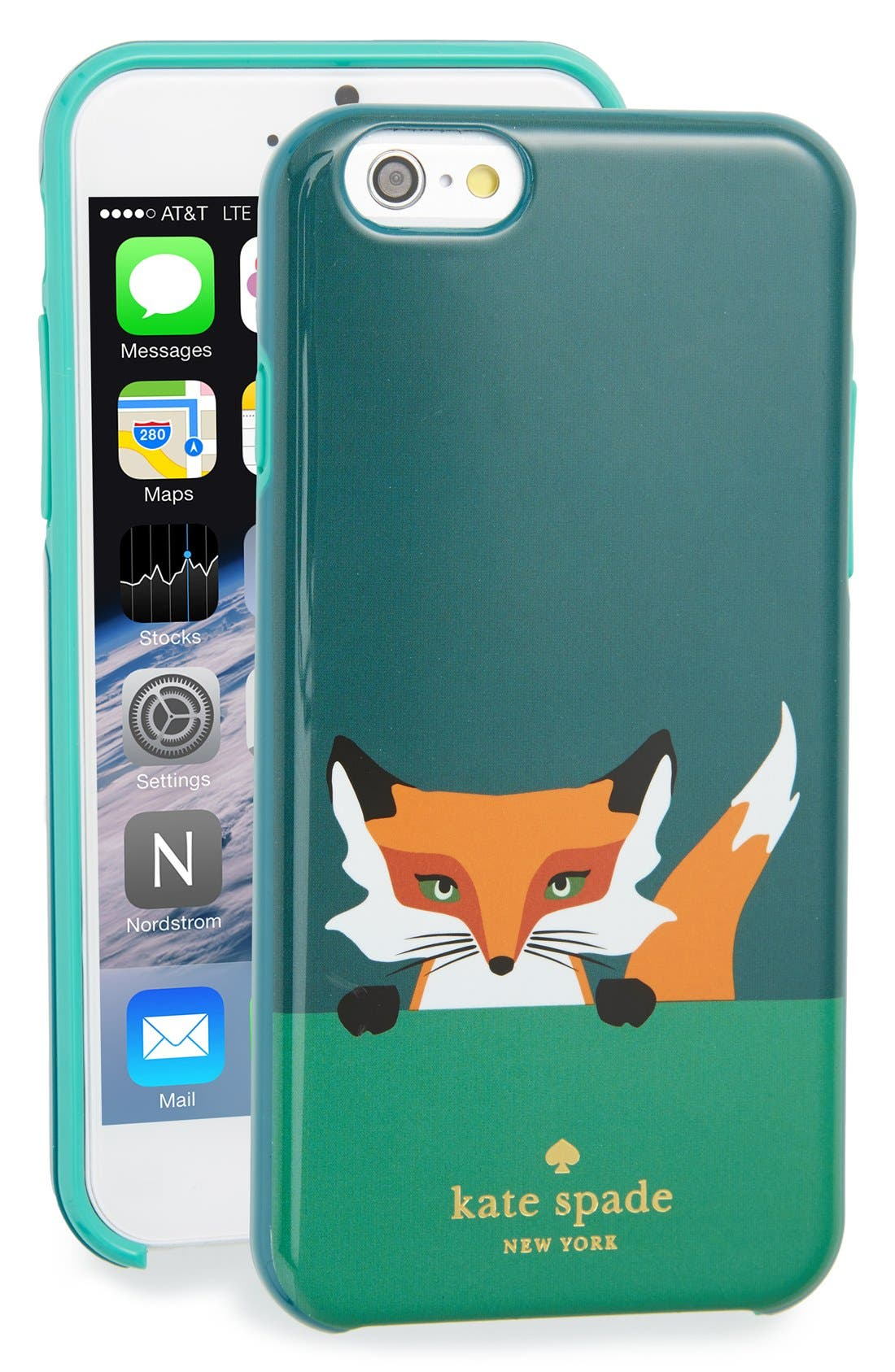 Main Image - kate spade new york 'novelty fox' iPhone 6 & 6s case
