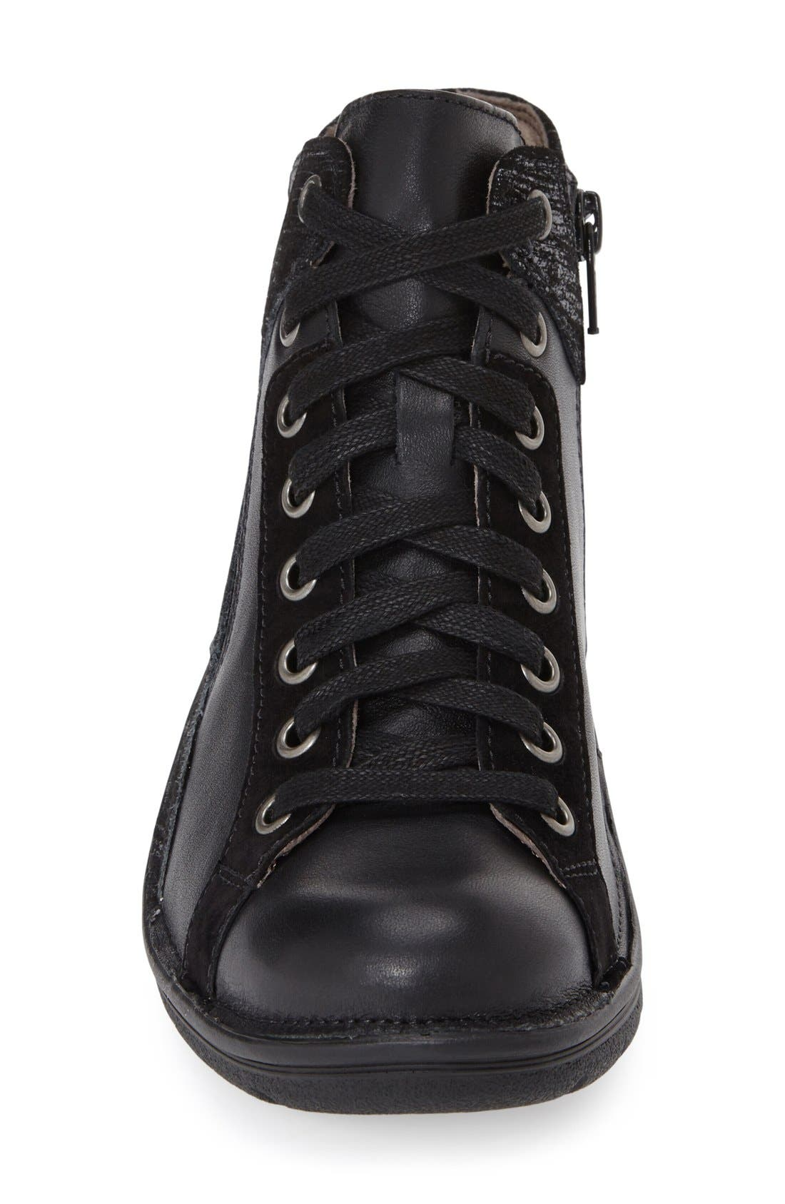 'Orbit' Boot,                             Alternate thumbnail 3, color,                             Black/ Anthracite Leather