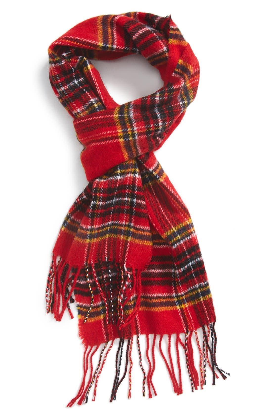 Plaid Scarf,                         Main,                         color, Red Multi