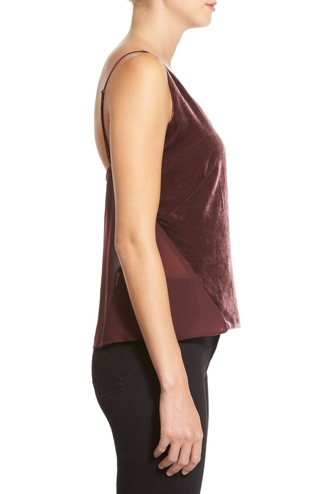 Alternate Image 3  - J Brand 'Lucy' Velvet Front Camisole