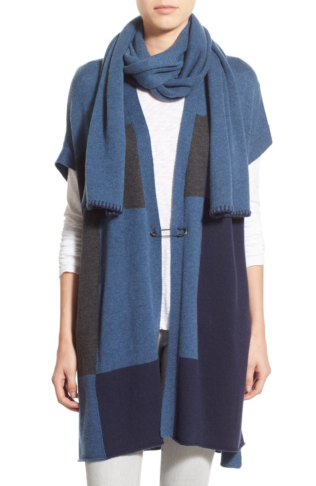 Alternate Image 1 Selected - Paige Denim 'Ruth' Long Open Cardigan with Attached Scarf