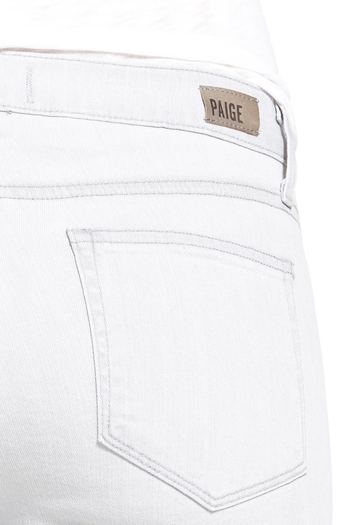 Alternate Image 4  - PaigeDenim 'Verdugo' Ankle Ultra Skinny Jeans (Light Grey/Silver Solstice)
