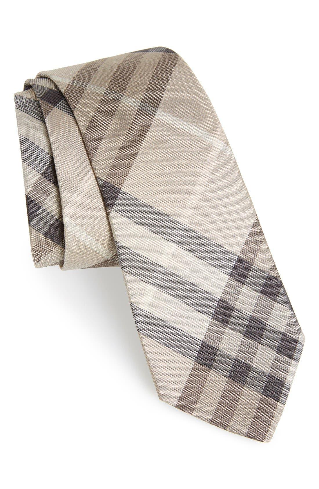 Burberry'Manston' CheckSilk Tie