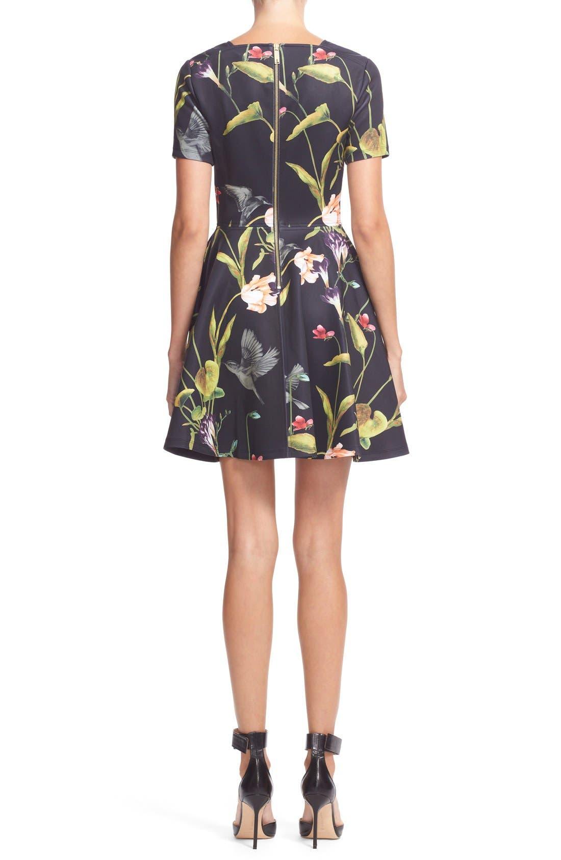 Alternate Image 2  - Ted Baker London 'Moven' Floral PrintSkater Dress