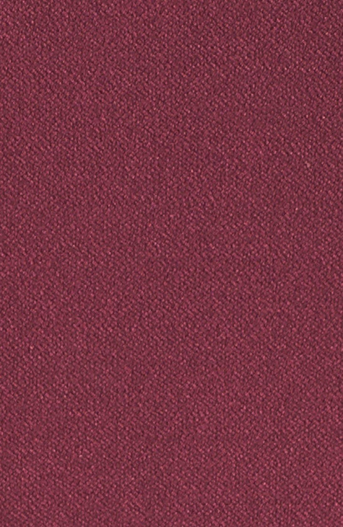 Double Crepe Belted Minidress,                             Alternate thumbnail 5, color,                             Burgundy